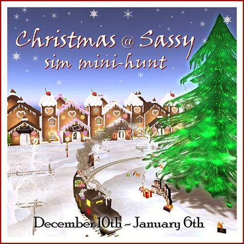 Christmas at Sassy sim mini-hunt