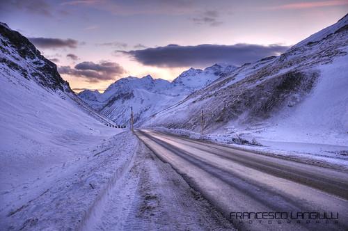 sunset italia tramonto confine neve svizzera livigno monti passo bernina dogana passodelbernina forcola