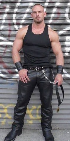 Muscle in leather