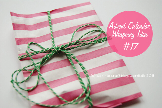 Advent Calendar Wrapping Idea #17