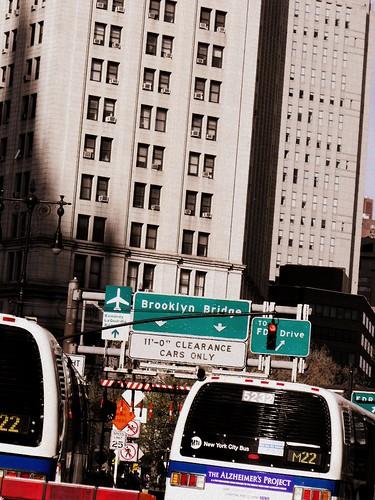 brooklyn bridge sign, new york