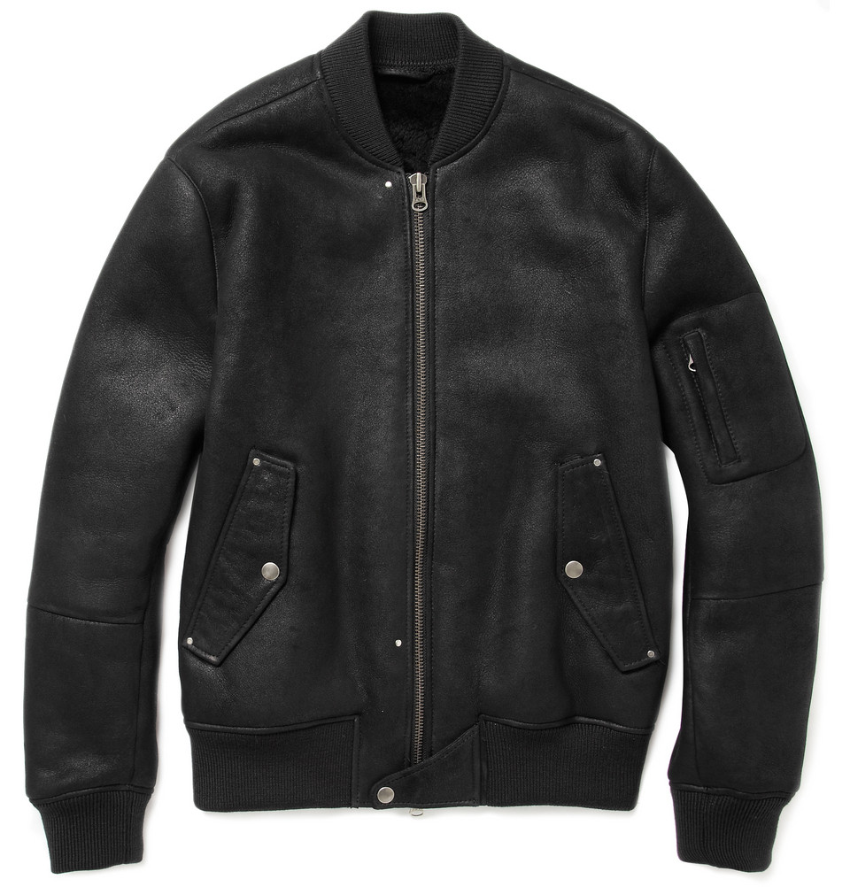 Acne Lazer Shearling-Lined Bomber Jacket