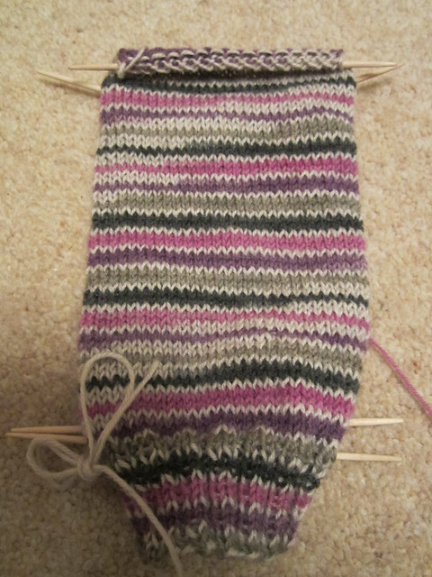 Plain vanilla socks no4 WIP