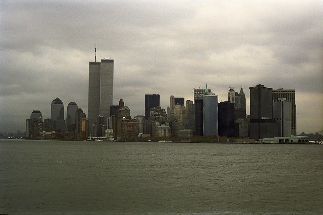 1990 12 Thede - Adam Thede Trip to New York City - 20 View of Lower Manhattan