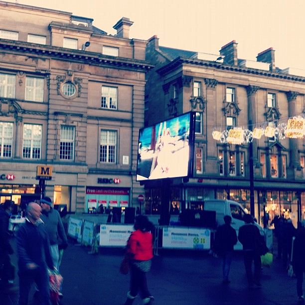 Screening White Christmas on Grey Street ♥