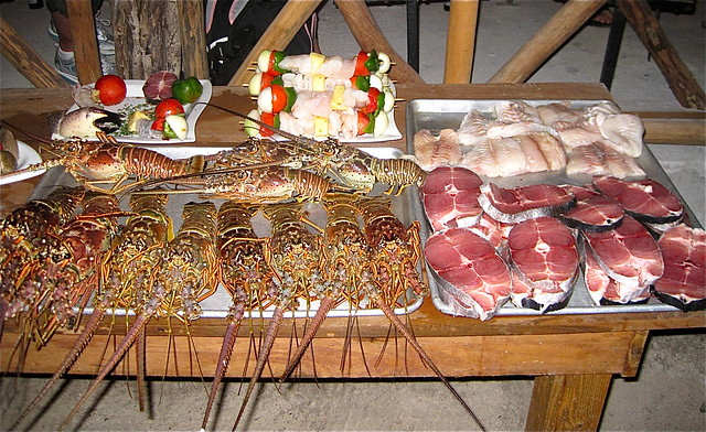 fresh seafood dinner belize