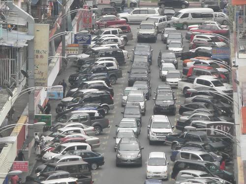 Busy Street In Kota Kinabalu