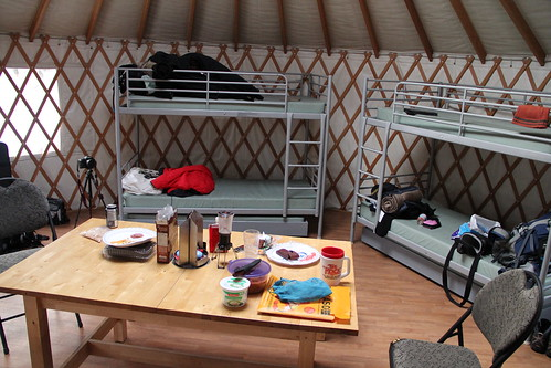 Inside the Taylor Lake yurt