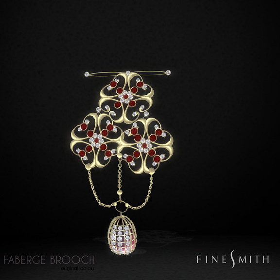 fabrege Gold14k+diamonds&Ruby