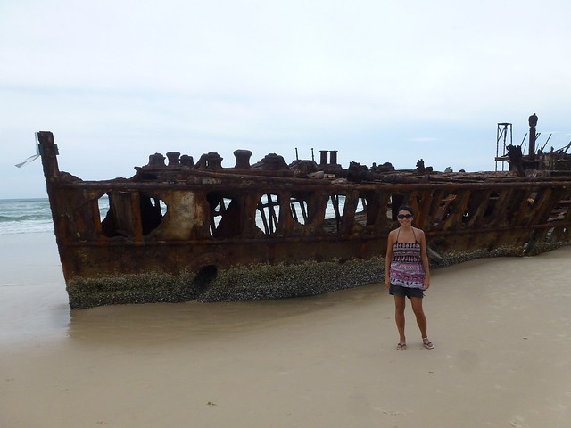 The shipwreck on the beach