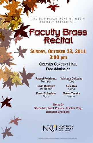 Recital Poster-Fall 2011