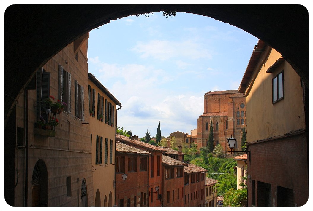 Siena gate view
