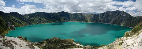 panorama lake southamerica landscape ecuador paisaje panoramic crater andes laguna quilotoa sudamérica américadelsur