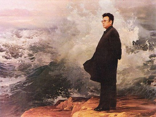 kim-jong-il-propaganda-posters-05-determination-beside-waves-560x420
