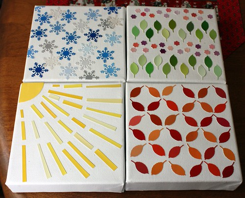 paint chip art-seasons
