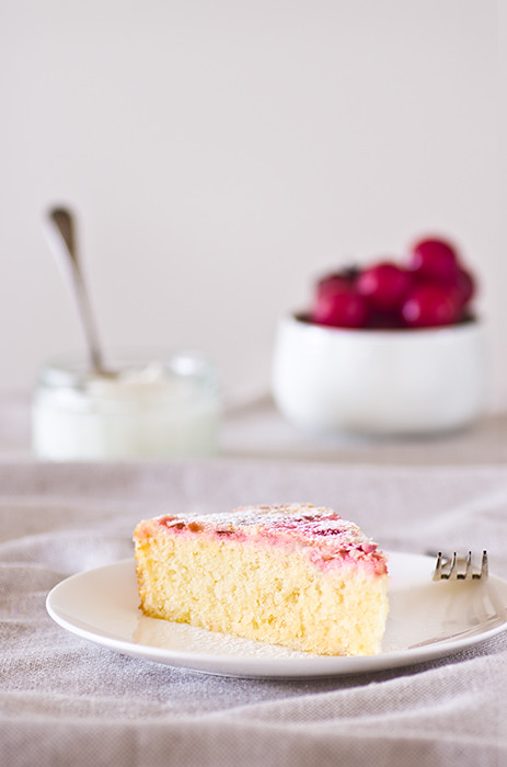 Lemon plum cake