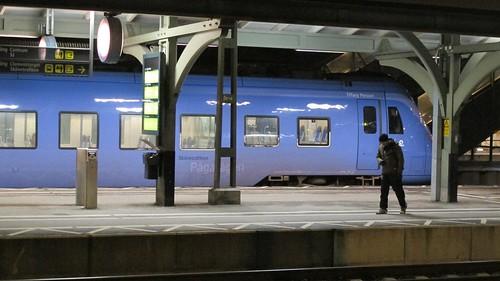 Purple train, Lund Central Station