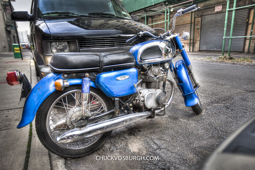 Honda 175 in Brooklyn by chuckvosburgh
