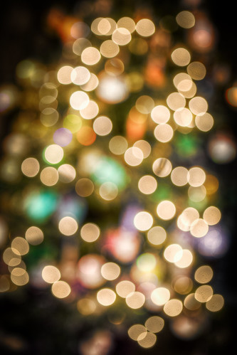 914/1000 - Christmas Tree Bokeh in Chester Cathedral by Mark Carline