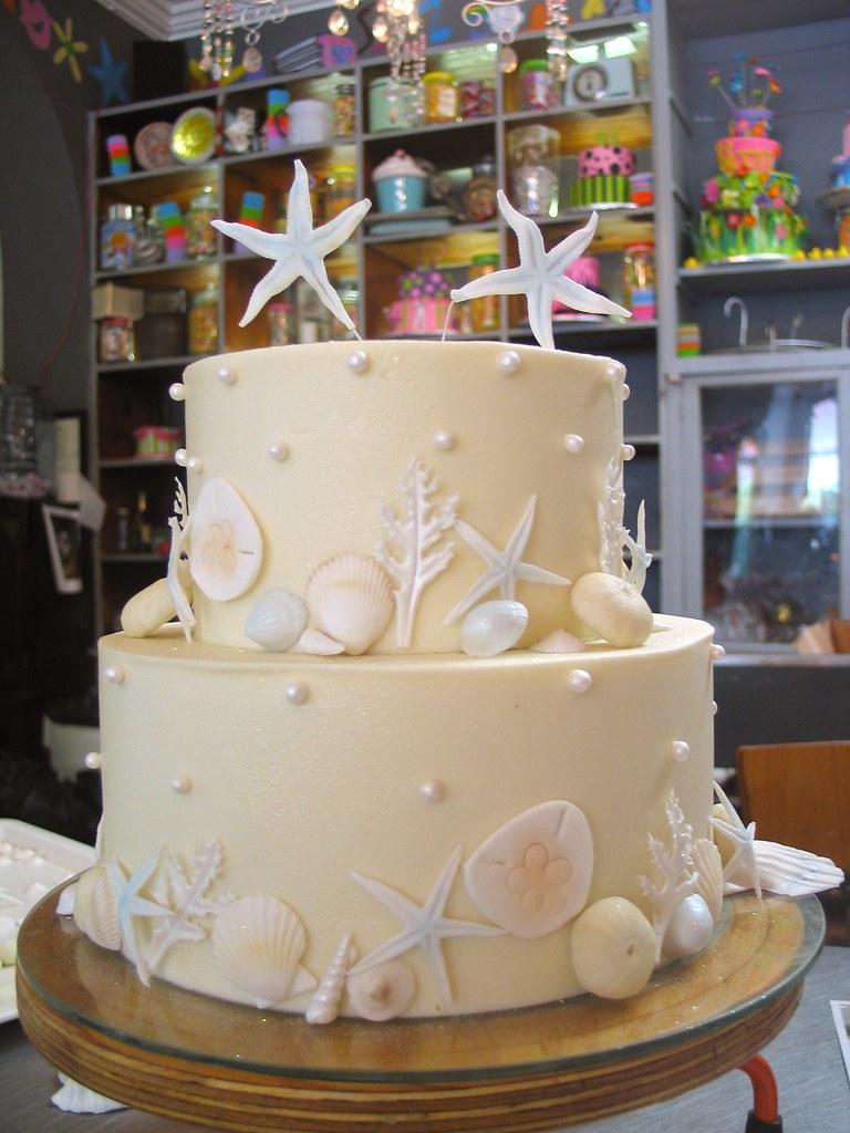 2 Tier Wicked Chocolate Wedding Cake Iced In White Chocolate Ganache