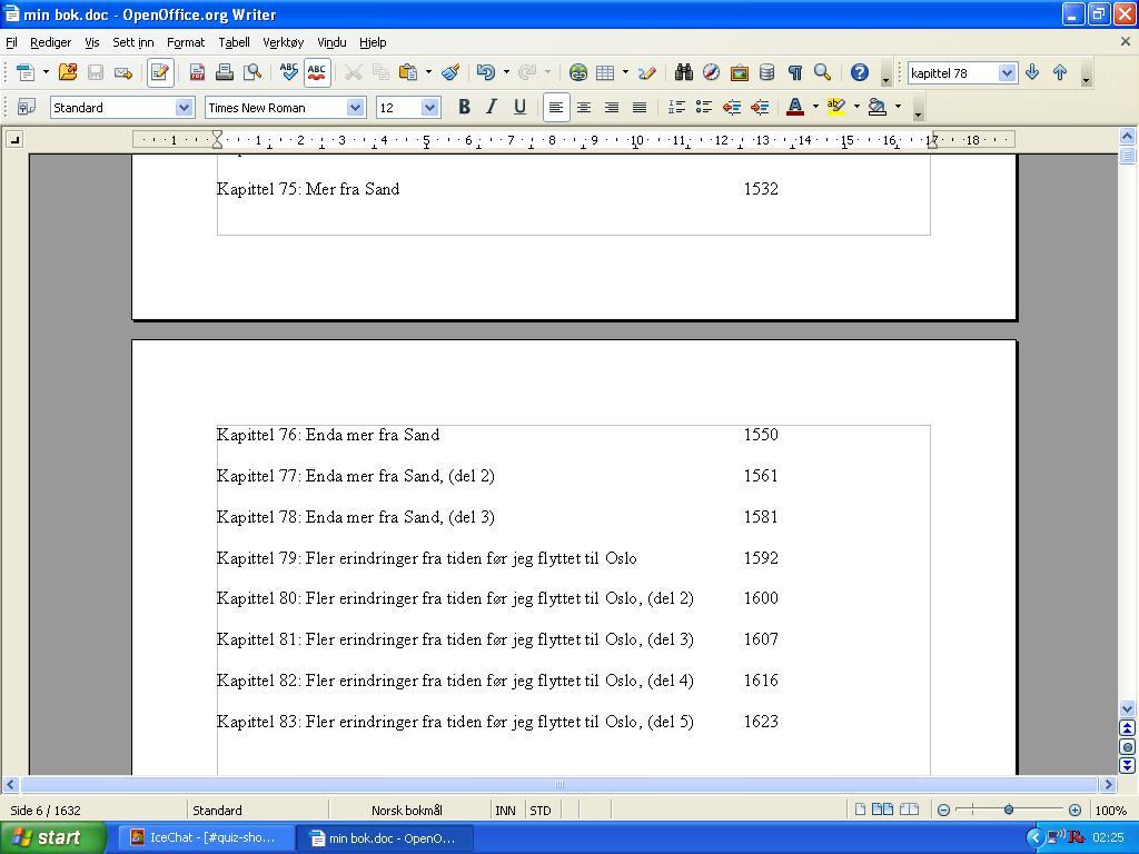 min bok mer enn 1600 sider