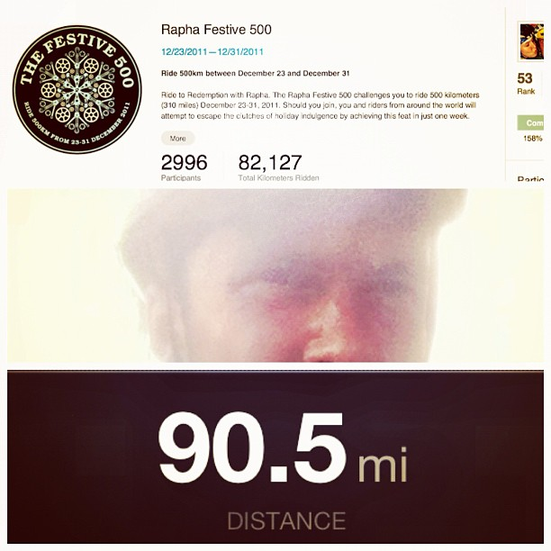 10 shy of a century. Let's see if the day ends with me still in the top 100. #festive500