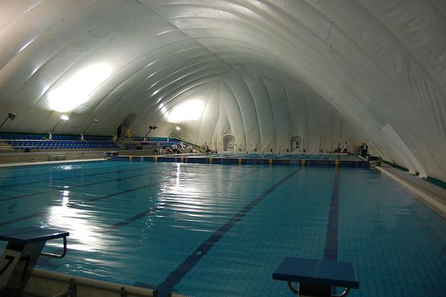 The Rijeka 2008 inflatable training pool roof