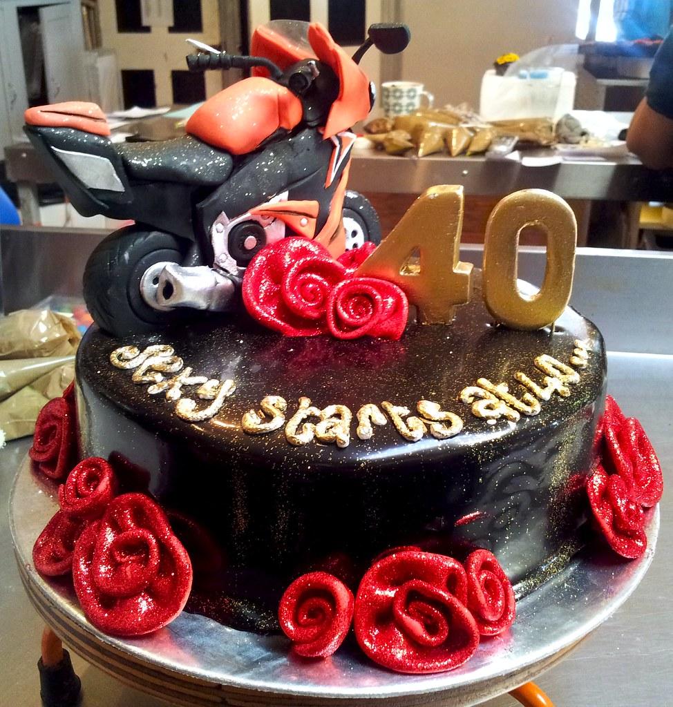Birthday Cakes Man Red White Black
