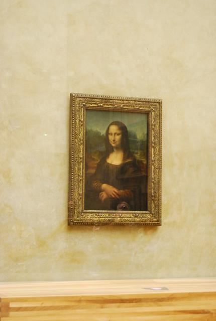 La Gioconda en el Museo del Louvre de París
