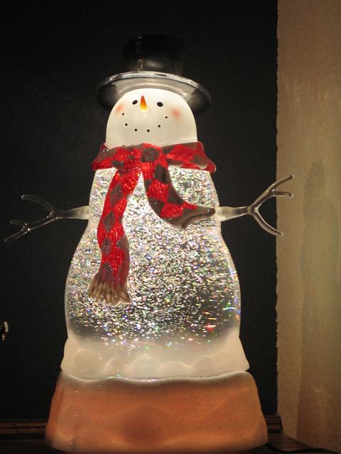 Glittering snowman