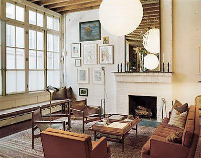 Merveilleux Diana Kellogg {vintage Rustic Industrial Modern Loft Living Room}