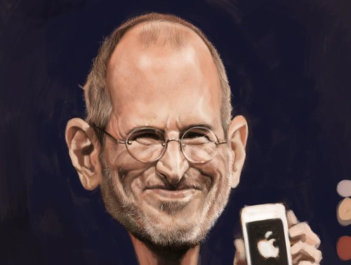 digital caricature of Steve Jobs - 3