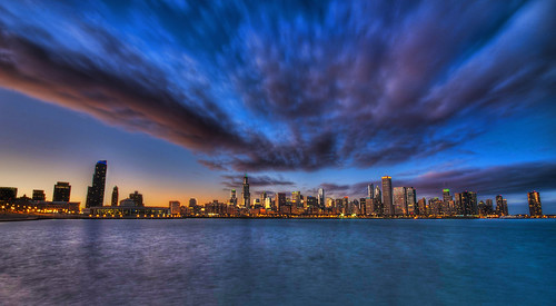 christmas blue winter sunset urban lake chicago skyline museum architecture clouds photoshop matt campus illinois high nikon long exposure dynamic angle michigan adler wide sigma hour planetarium range hdr frankel d90 photomatix tonemap cs5 10mm20mm