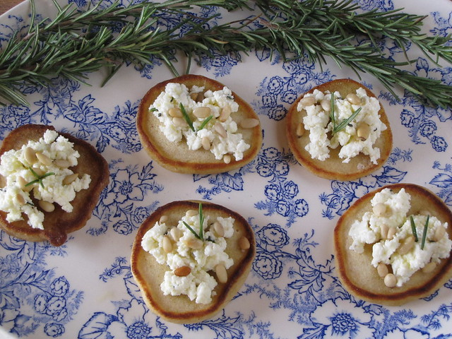 6629190089 a4204d914a z Homemade Ricotta Blini with Rosemary & Pine Nuts: A Healthy New Year