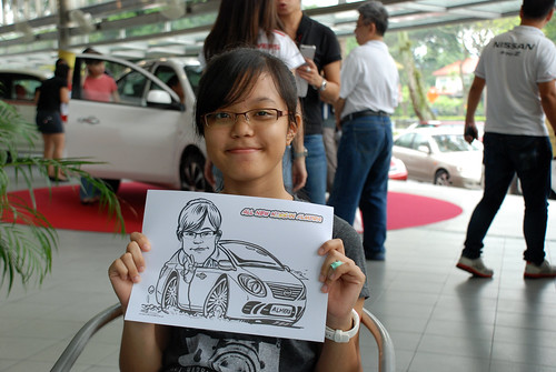 Caricature live sketching for Tan Chong Nissan Almera Soft Launch - Day 1 - 15
