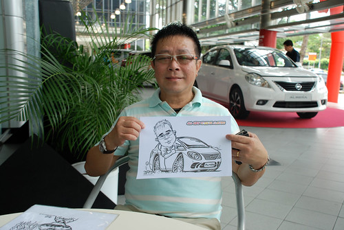 Caricature live sketching for Tan Chong Nissan Almera Soft Launch - Day 2 - 24