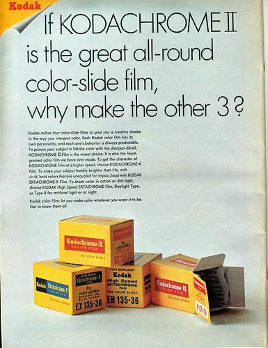If Kodachrome II is the great all-around color-slide film, why make the other 3? 1968