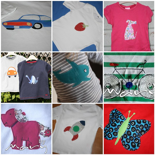 Appliqued t-shirts mosaic