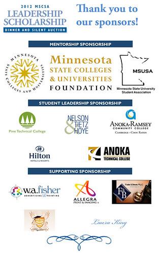Leadership Scholarship Sponsors