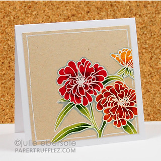 Flower Trio on Kraft