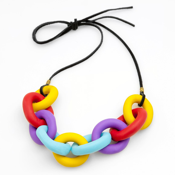 Clay Necklace-Melanie Nakaue for Poketo