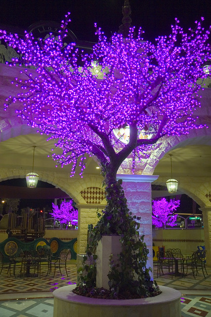 String Lights For Christmas Village : Tivoli Village Las Vegas Lighted Cherry Blossom Trees Flickr - Photo Sharing!