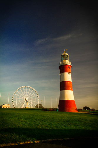 Smeatons Tower and the Plymouth Big Wheel/Eye