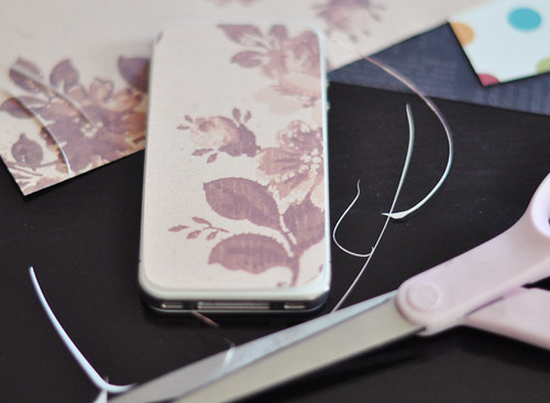 iphone 4 template paper floral case