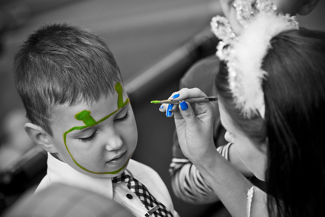 Shrek Face Painting http://www.flickr.com/photos/janis_petranis/6677899835/