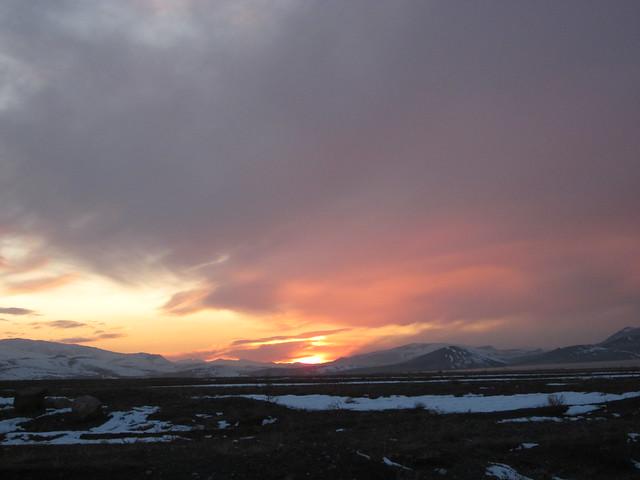 sunset near Ozalp, eastern Turkey