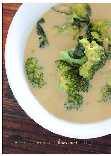 green curry of broccoli soup6