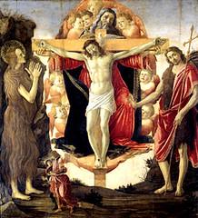 Botticelli (+1510), Cristo crucificado y la Trinidad
