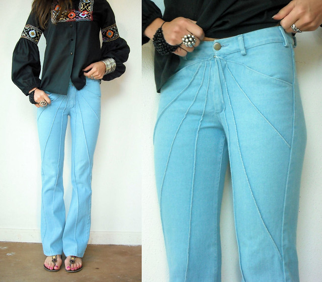 pintucked bell bottoms