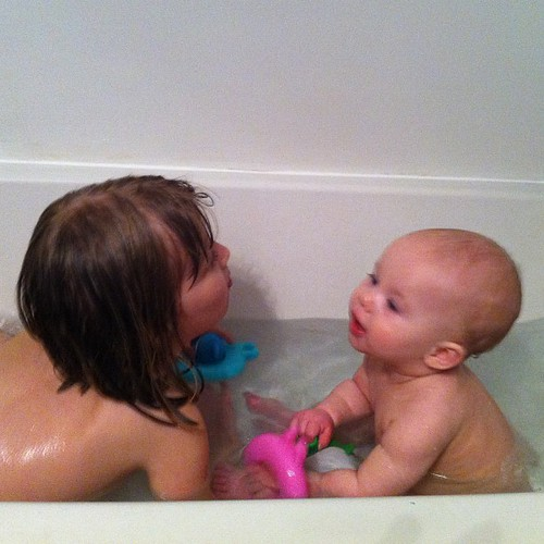 Bath buddies.